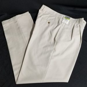 New Men's Dress Pants 34x32 Claiborne Slacks Beige